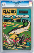 Golden Age (1938-1955):Classics Illustrated, Classics Illustrated #47 Twenty Thousand Leagues Under the Sea -Original Edition (Gilberton, 1948) CGC VF+ 8.5 Off-white to w...