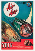 "Golden Age (1938-1955):Science Fiction, Air Ace V3#5 Davis Crippen (""D"" Copy) pedigree (Street & Smith,1946) Condition: VF/NM...."