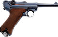 Handguns:Semiautomatic Pistol, German Model P08 Luger byf 41 Semi-Automatic Pistol with AssociatedHolster....