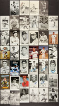 Baseball Collectibles:Others, Baseball Greats Signed Postcards Lot of 40....