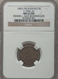 Civil War Merchants, 1863 Frank L. Gay Bookseller, Providence, RI MS63 Brown NGC.Fuld-RI700E-2a....