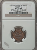 Civil War Merchants, (1861-65) Carland's Fine Ale, New York, NY MS62 Brown NGC.Fuld-NY630P-1a....