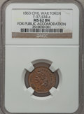 Civil War Patriotics, 1863 For Public Accommodation MS62 Brown NGC. Fuld-37/434a....