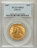 Liberty Eagles: , 1907 $10 MS63 PCGS. PCGS Population (3406/641). NGC Census:(5694/1139). Mintage: 1,203,973. Numismedia Wsl. Price for prob...