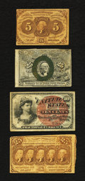 Fractional Currency:First Issue, Fractional Currency Grouping.. ... (Total: 4 notes)