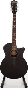 Musical Instruments:Acoustic Guitars, 2003 Washburn Model EA16BP Metallic Black Acoustic Electric Guitar,Serial # SC03080912....