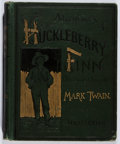 Books:Literature Pre-1900, Mark Twain. Adventures of Huckleberry Finn. Webster, 1888.Later edition. Hinges and binding cracked. Abrading t...