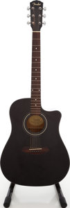 Musical Instruments:Acoustic Guitars, 2007 Fender CD-60CE BLK Black Acoustic Electric Guitar, Serial # CS07060913....