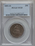 Seated Quarters, 1851-O 25C VF25 PCGS....