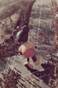 Photographs, RUTH ORKIN (American, 1921-1985). Mickey Mouse, Macy's Thanksgiving Day Parade, 1981. Color photograph. 19 x 12-3/4 inch...