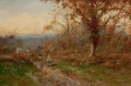 Fine Art - Painting, European:Antique  (Pre 1900), DAVID BATES (British, 1840-1921). Gathering Brushwood. Oilon canvas. 16 x 24 inches (40.6 x 61.0 cm). Signed lower righ...