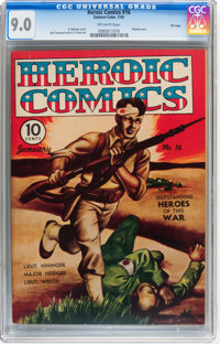 Heroic Comics #16 File Copy (Eastern Color, 1943) CGC VF/NM 9.0 Off-white pages