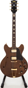 Musical Instruments:Electric Guitars, 1984 Aria 5502V Walnut Semi-Hollow Body Electric Guitar, Serial #840823....