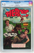 Golden Age (1938-1955):War, Heroic Comics #89 File Copy (Eastern Color, 1954) CGC NM- 9.2 Off-white pages....