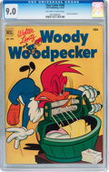 Golden Age (1938-1955):Cartoon Character, Four Color #390 Woody Woodpecker (Dell, 1952) CGC VF/NM 9.0Off-white to white pages....
