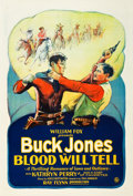 "Movie Posters:Western, Blood Will Tell (Fox, 1927). One Sheet (27"" X 41"").. ..."