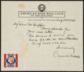 Baseball Collectibles:Others, 1940 Connie Mack Signed, Handwritten Letter - Great Content!...