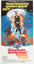 "Movie Posters:James Bond, Diamonds are Forever (United Artists, 1971). Three Sheet (40.5"" X77"") Flat Folded International Style.. ..."