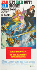 "Movie Posters:James Bond, On Her Majesty's Secret Service (United Artists, 1970). Three Sheet(40.5"" X 77"") International Style.. ..."
