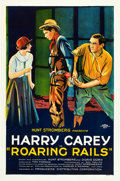 "Movie Posters:Action, Roaring Rails (PDC, 1924). One Sheet (27"" X 41"").. ..."