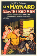 "Movie Posters:Western, Alias the Bad Man (Amity, 1931). One Sheet (27"" X 41"").. ..."