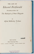 Books:Biography & Memoir, Alfred McKinley Terhune. The Life of Edward FitzGerald.Yale, 1947. First edition, first printing. Ex-library with t...