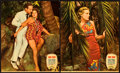 "Movie Posters:Adventure, Ebb Tide (Paramount, 1937). Jumbo Lobby Card Set of 8 (14"" X 17"")..... (Total: 8 Items)"