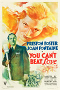 """Movie Posters:Comedy, You Can't Beat Love (RKO, 1937). One Sheet (27"""" X 41"""").. ..."""