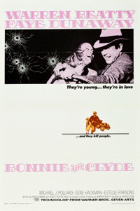 """Bonnie and Clyde (Warner Brothers-Seven Arts, 1967). One Sheet (27"""" X 41"""")"""