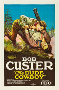 "Movie Posters:Western, The Dude Cowboy (FBO, 1926). One Sheet (27"" X 41"") Style B.. ..."
