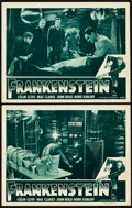 "Movie Posters:Horror, Frankenstein (Universal, R-1947). Lobby Cards (2) (11"" X 14"").. ...(Total: 2 Items)"