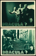 "Movie Posters:Horror, Dracula (Universal, R-1938). Lobby Cards (2) (11"" X 14"").. ...(Total: 2 Items)"