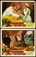 "Movie Posters:Horror, Frankenstein Meets the Wolf Man (Realart, R-1949). Lobby Cards (2)(11"" X 14"").. ... (Total: 2 Items)"