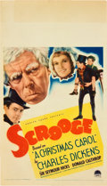 "Movie Posters:Drama, Scrooge (Paramount, 1935). Midget Window Card (8"" X 14"").. ..."