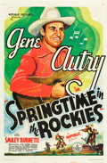 "Movie Posters:Western, Springtime in the Rockies (Republic, 1937). One Sheet (27"" X 41"").. ..."