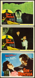 "Movie Posters:Horror, Son of Dracula (Realart, R-1948). Title Lobby Card and Lobby Cards(2) (11"" X 14"").. ... (Total: 3 Items)"