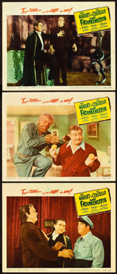 """Abbott and Costello Meet Frankenstein (Realart, R-1956). Lobby Cards (3) (11"""" X 14""""). ... (Total: 3 Items)"""