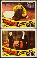 "Movie Posters:Horror, Dracula (Realart, R-1951). Lobby Cards (2) (11"" X 14"").. ...(Total: 2 Items)"