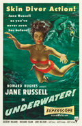 "Movie Posters:Drama, Underwater! (RKO, 1955). One Sheet (27"" X 41""). Drama.. ..."