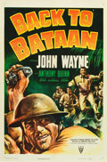 "Movie Posters:War, Back to Bataan (RKO, 1945). One Sheet (27"" X 41"").. ..."