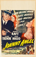 "Movie Posters:Crime, Johnny Angel (RKO, 1945). Window Card (14"" X 22"").. ..."