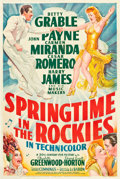 "Movie Posters:Musical, Springtime in the Rockies (20th Century Fox, 1942). One Sheet (27"" X 41"").. ..."