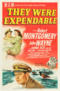 "Movie Posters:War, They Were Expendable (MGM, 1945). One Sheet (27"" X 41"") Style D....."