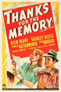 """Movie Posters:Comedy, Thanks for the Memory (Paramount, 1938). One Sheet (27"""" X 41"""")....."""