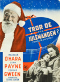 """Movie Posters:Comedy, Miracle on 34th Street (20th Century Fox, 1947). Danish One Sheet (24.5"""" X 33.25"""").. ..."""