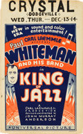 "Movie Posters:Musical, King of Jazz (Universal, 1930). Window Card (14"" X 22.5"").. ..."