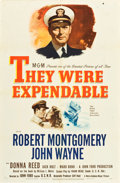 """Movie Posters:War, They Were Expendable (MGM, 1945). One Sheet (27"""" X 41"""") Style C....."""