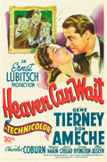 "Movie Posters:Comedy, Heaven Can Wait (20th Century Fox, 1943). One Sheet (27"" X 41"")....."