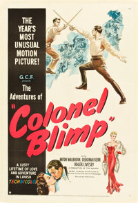 """The Life and Death of Colonel Blimp (United Artists, 1945). One Sheet (27"""" X 41""""). Alternate Title: The Advent..."""