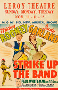 "Movie Posters:Musical, Strike Up the Band (MGM, 1940). Window Card (14"" X 22"").. ..."